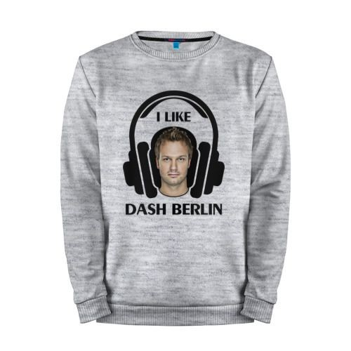 Мужской свитшот хлопок «I like Dash Berlin» melange