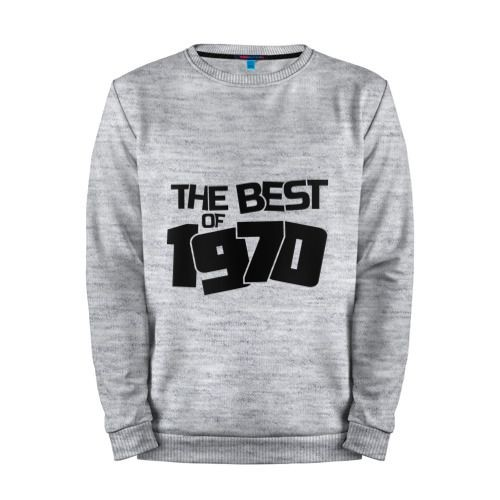 Мужской свитшот хлопок «The best of 1970» melange