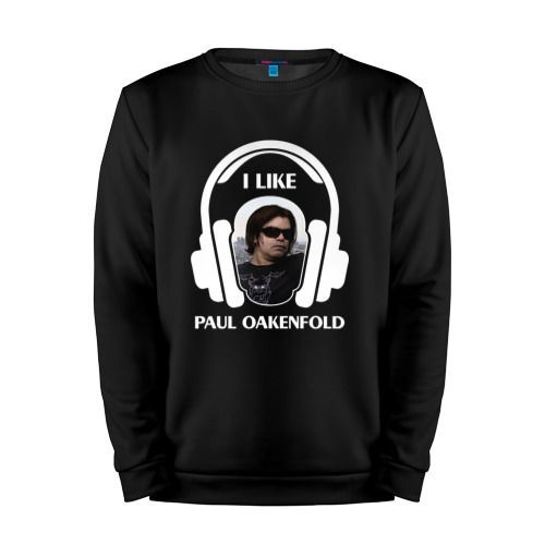 Мужской свитшот хлопок «I like Paul Oakenfold» black