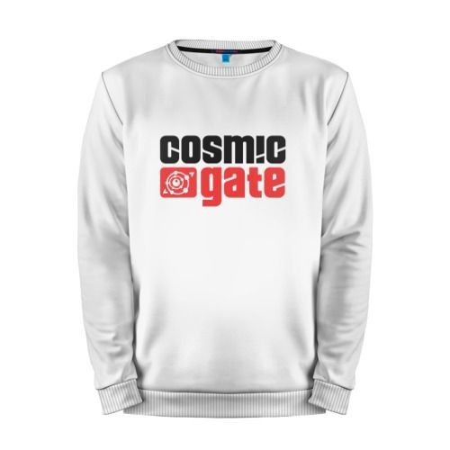 Мужской свитшот хлопок «Cosmic Gate» white