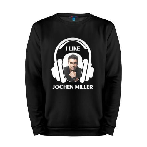 Мужской свитшот хлопок «I like Jochen Miller» black