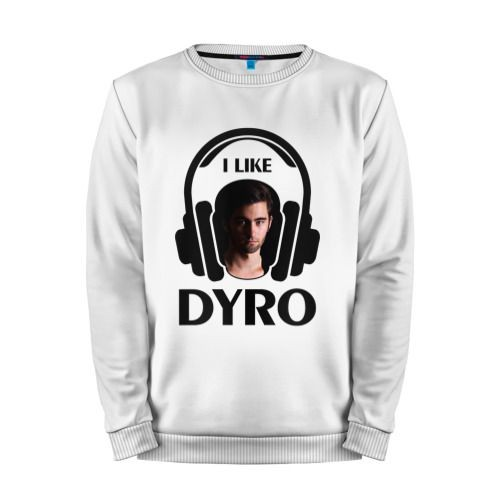 Мужской свитшот хлопок «I like Dyro» white