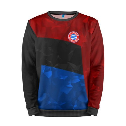 Мужской свитшот 3D «FC Bayern 2018 Abstract colors» black