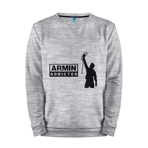 Мужской свитшот хлопок «Armin addicted» melange